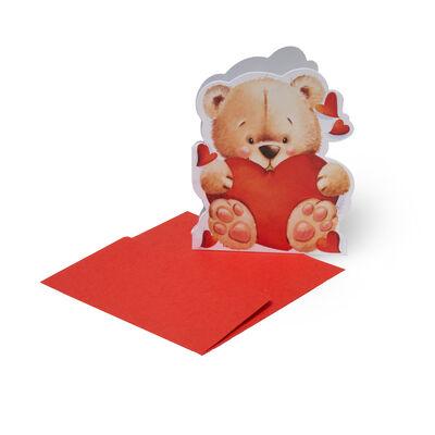 SMALL GREETING CARD - LOVE BEAR