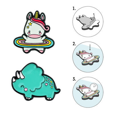 Cutie - Set Of 2 Metal Stickers