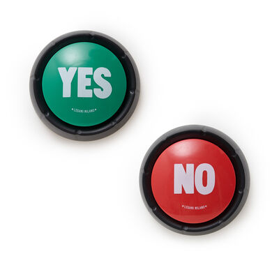 YES & NO - Set di Due Pulsanti Sonori