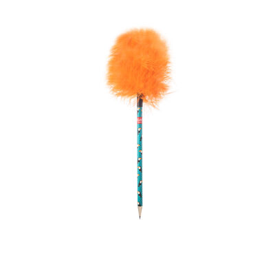 Fluffy Pencil With Feathers