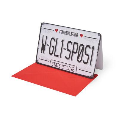 Surprise Greeting Cards - Congratulazioni - 11,5X17 Targa Sposi