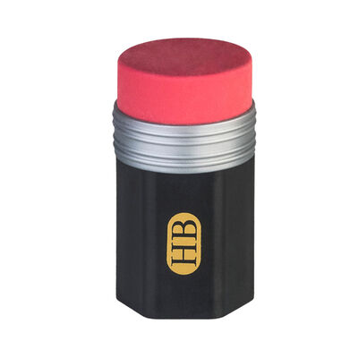 BLACK TWO-IN-ONE RUBBER WITH SHARPENER