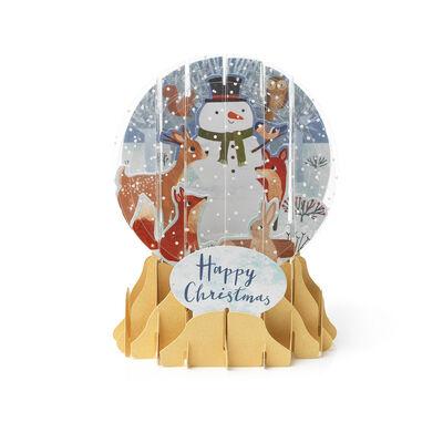 Biglietto Pop Up di Natale - Snow Globe