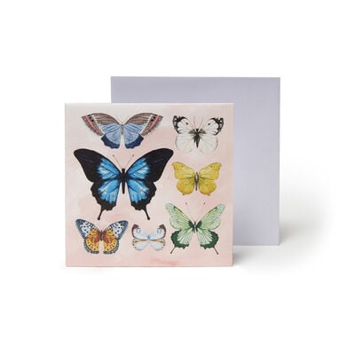 Small Pop Up Greeting Card - Watercolor Butterflies