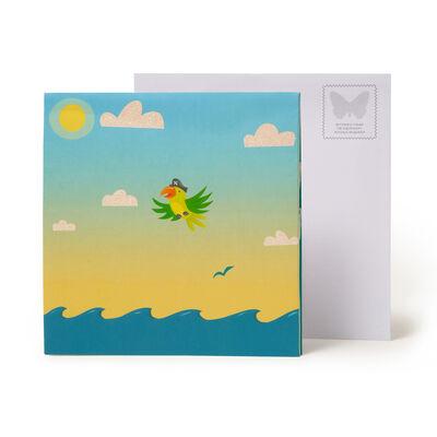 Large Greeting Card Pop Up - Dog Pirates