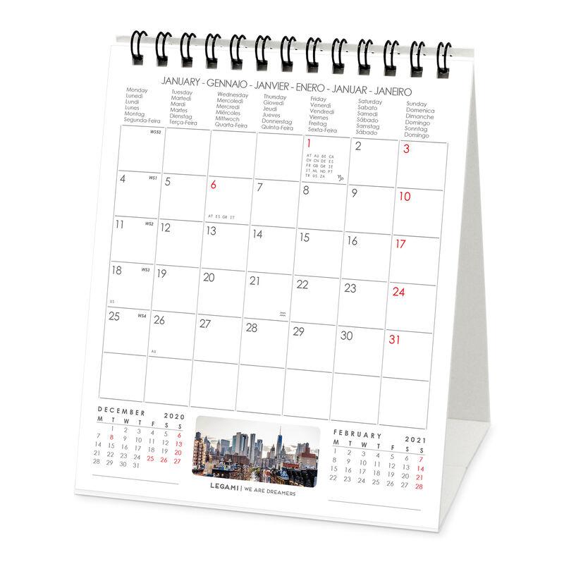 New York Legami Calendario 2021 de mesa 12 x 14,5 cm