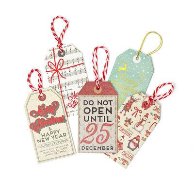 Set di 10 Etichette regalo natalizie