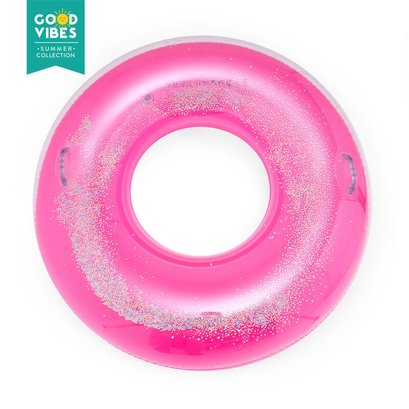 Inflatable Maxi Ring for Swimming Pool with Sprinkles, , zoo