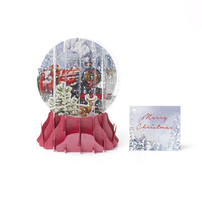 Christmas Pop Up Greeting Card - Snow Globe