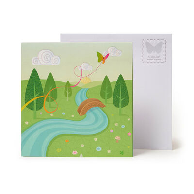 Large Pop Up Greeting Card - Unicorns