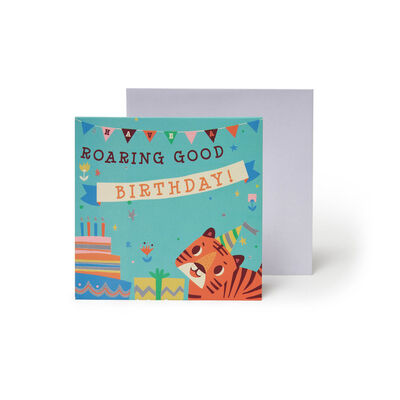 Small Pop Up Greeting Card - Birthday Tigers