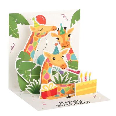 Biglietto Pop Up Small - Giraffes