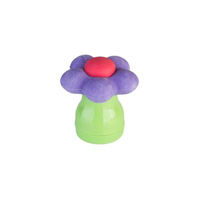 MAGENTA FLOWER POWER ERASER WITH SHARPENER