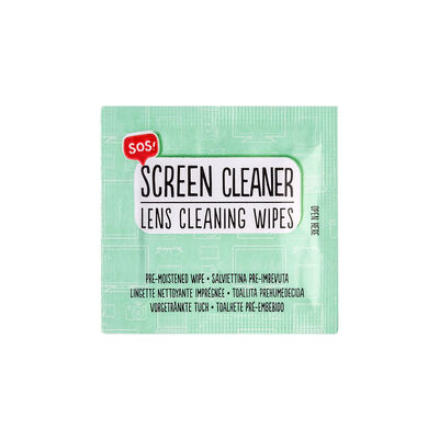 Sos Screen Cleaner - Pre-Moistened Wipes