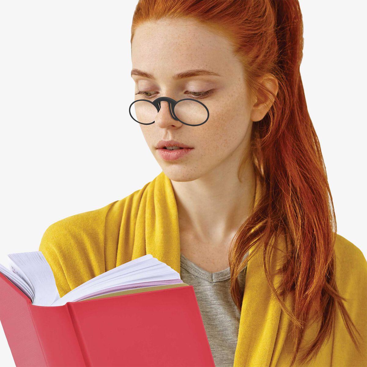 Mini Reading Glasses Pince-Nez - Reading Glasses, +3 Dioptre, , zoom