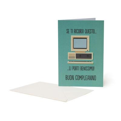 Biglietto di Auguri di Compleanno - Computer