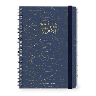 12-Month Weekly Diary - Large - Spiral Bound - 2022
