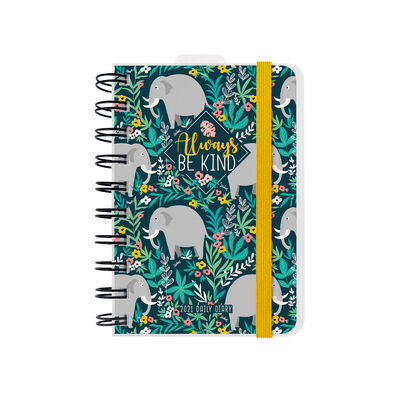12-Month Daily Diary - Small Spiral Bound - 2021