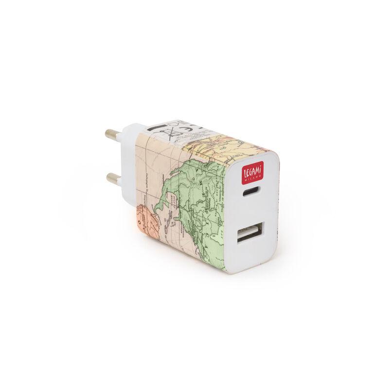 Plug &Charge - Caricabatterie da Muro - USB + USB-C, , zoo