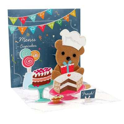 Biglietto Pop Up Large - Bakery Bear