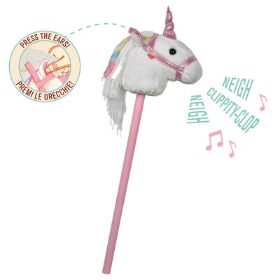 UNICORN HOBBY HORSE - WITH SOUND