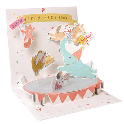 Large Pop Up Greeting Card - Trampoline