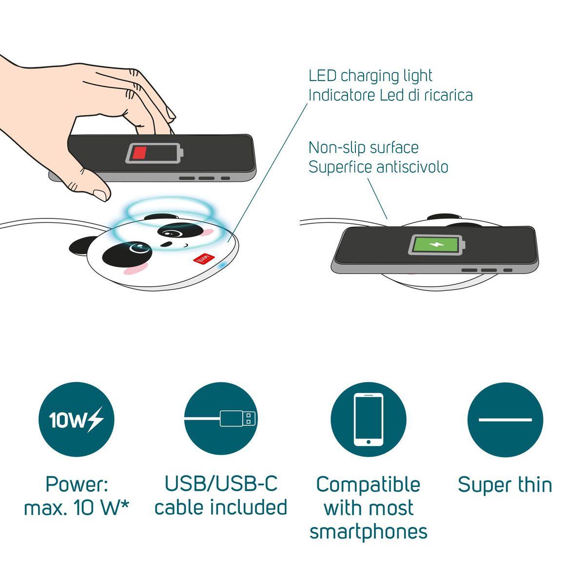 Super Fast - Caricabatterie Wireless per Smartphone, , zoo