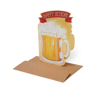 Lovely Greeting Cards - Birthday - 11,5X17 Happy Beerday