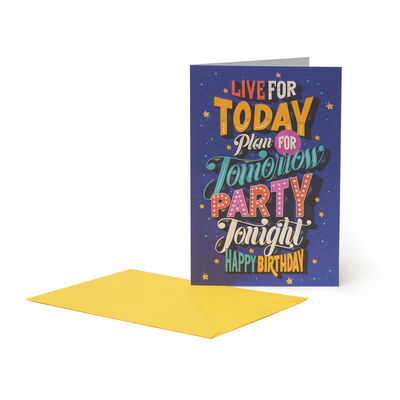 Greeting Card - Party Tonight