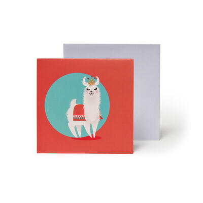 Small Greeting Card Pop Up - Little Llamas