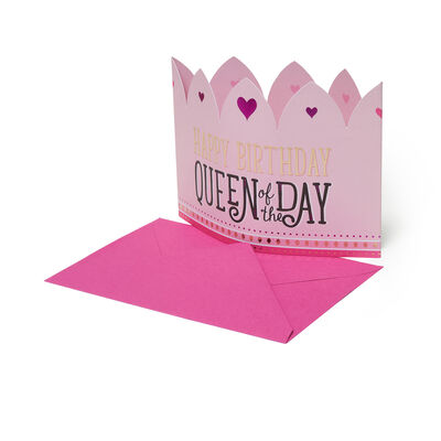 3D Greeting Card - Happy Birthday - Queen Crown