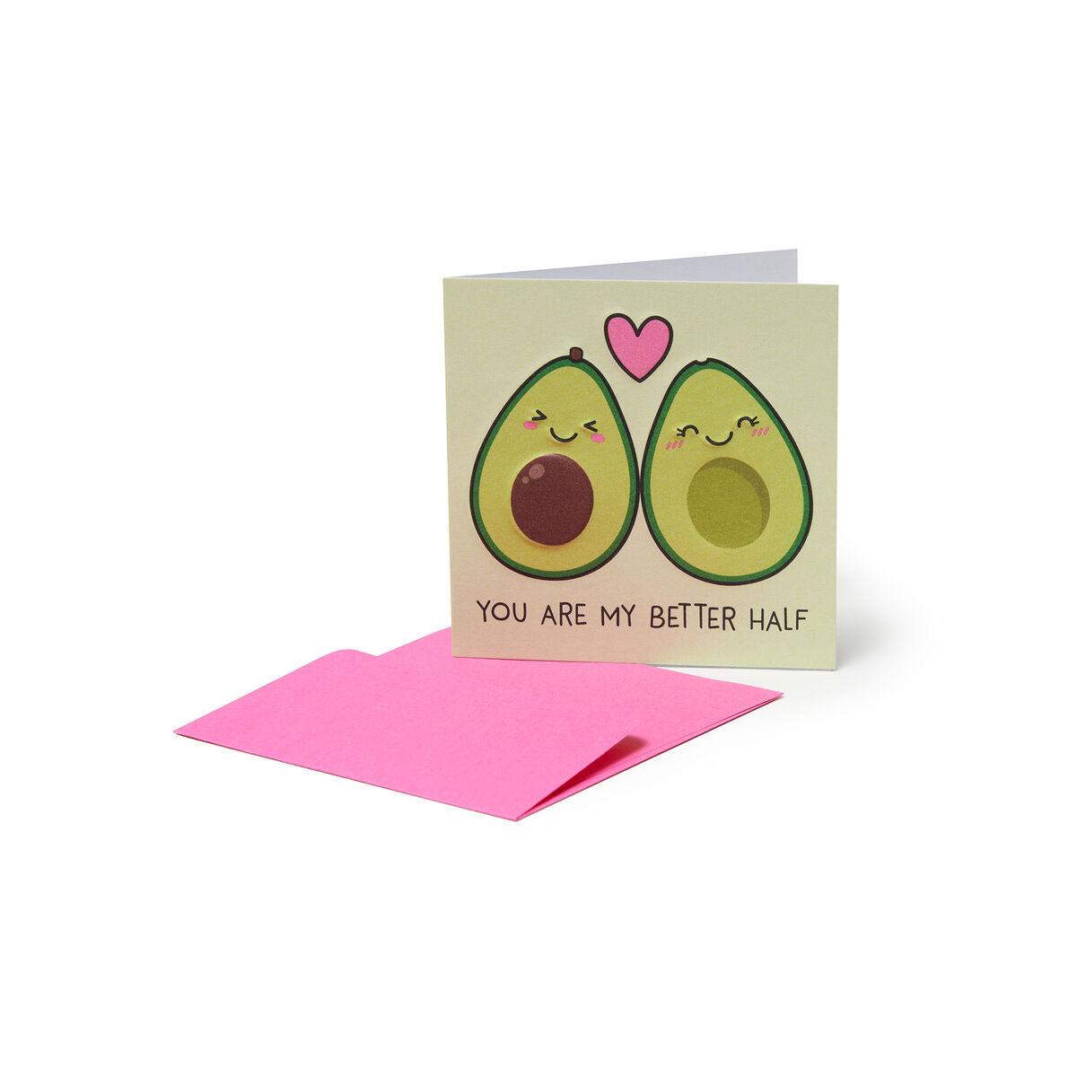 Mini Biglietto d'Auguri - Avocado Love, , zoo
