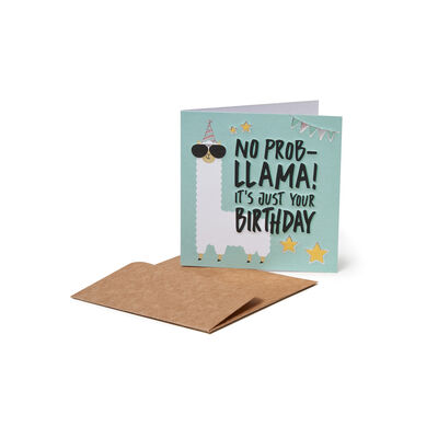 Biglietto di Auguri di Compleanno - No Probllama