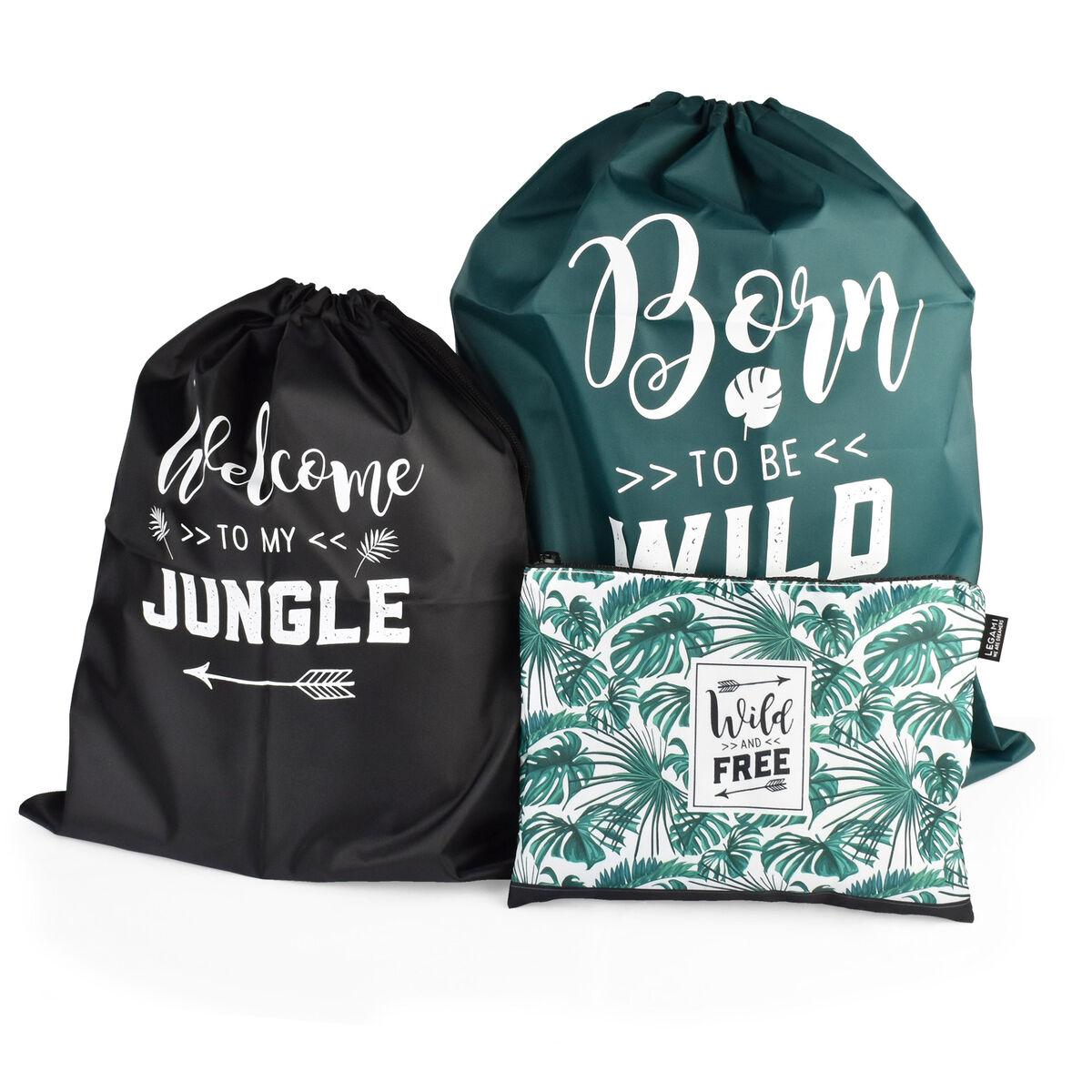 Travel Bags - 3-Pouches Set, , zoo