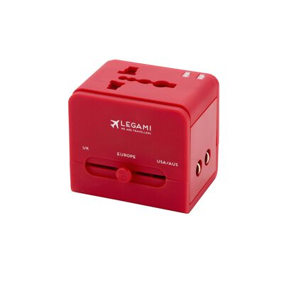 Universal Travel Adapter for Electrical Sockets - Red