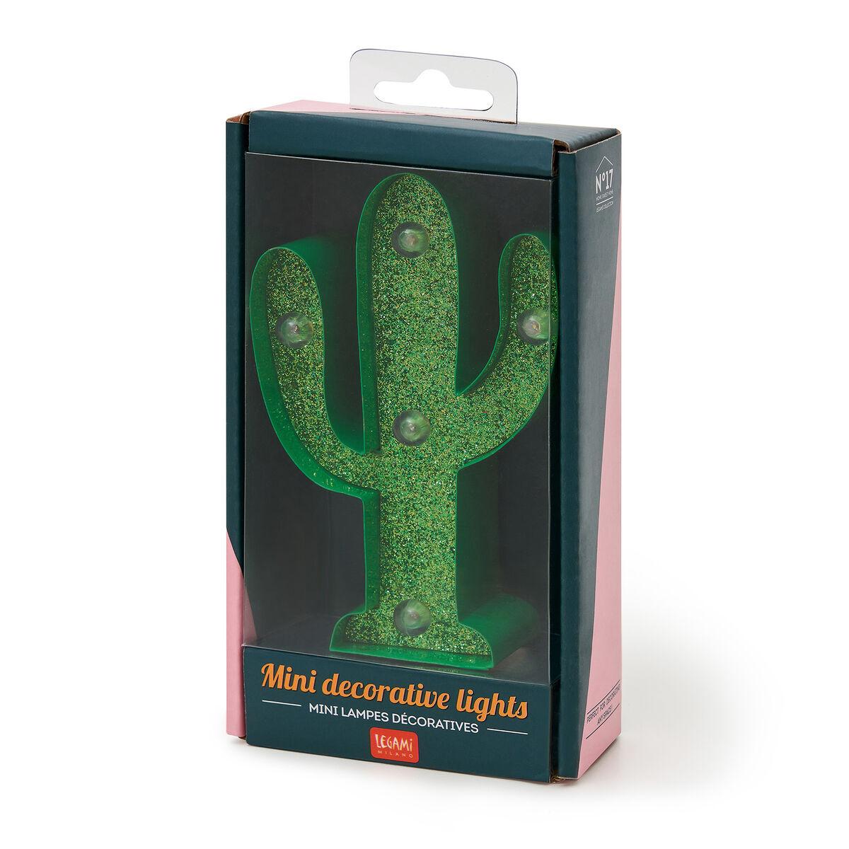 Mini Decorative Light - Cactus with Glitter, , zoo