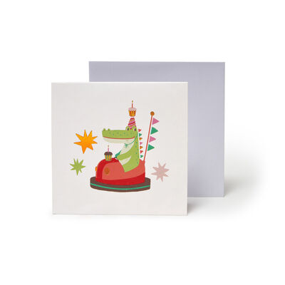 Small Pop Up Greeting Card - Animal Bumper Cars