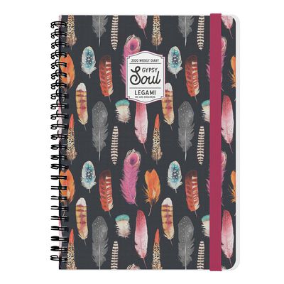 12-Month Weekly Large Spiral Bound Diary - 2020