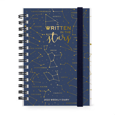 12-Month Weekly Diary - Small - Spiral Bound - 2022