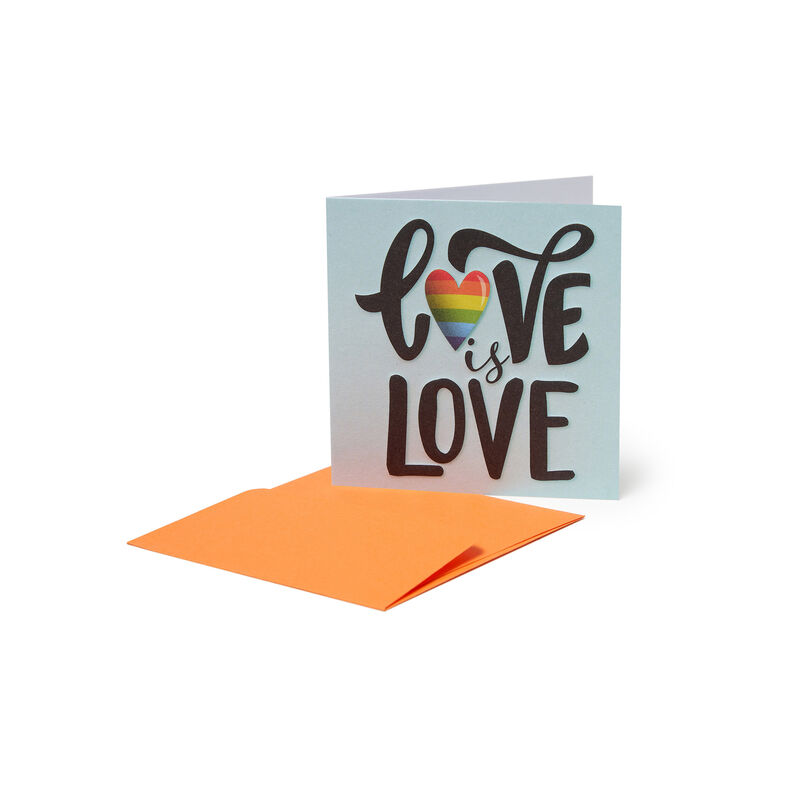 Mini Greeting Card - Love Is Love, , zoo