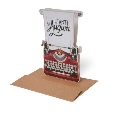 Lovely Greeting Cards - Birthday - 11,5X17 Typewriter
