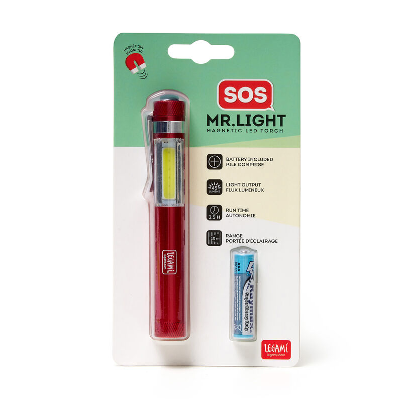 Led Torch With Magnetic Base, , zoo