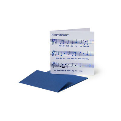 Greeting Cards - Birthday - 7X7 Happy Birthday Music