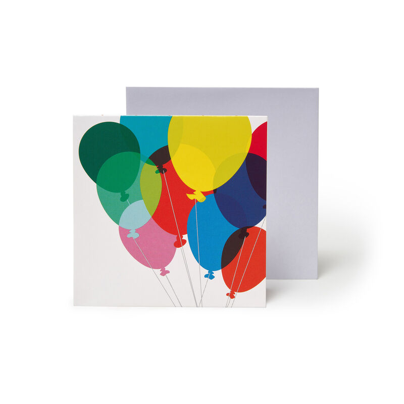 Small Greeting Card Pop Up - Balloon Bouquet, , zoo