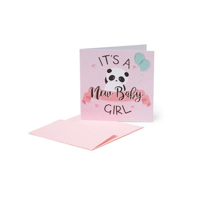 Greeting Cards - Congratulazioni - 7X7 Nascita Bimba