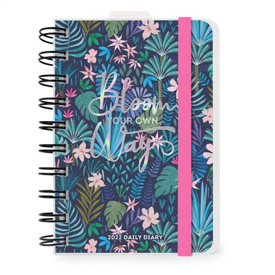 12-Month Daily Diary - Small - Spiral Bound - 2022