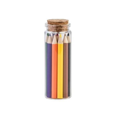 Colourful Potion - Jar Of 12 Coloured Pencils