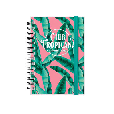 12-Month Weekly Diary - Small Spiral Bound - 2021