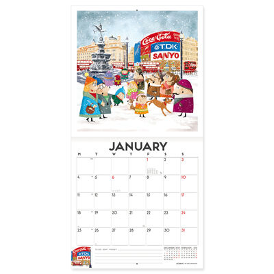 Calendario da Parete 2021 - 18x18 Cm