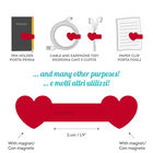 Magnetic Clip - Heart, , zoo